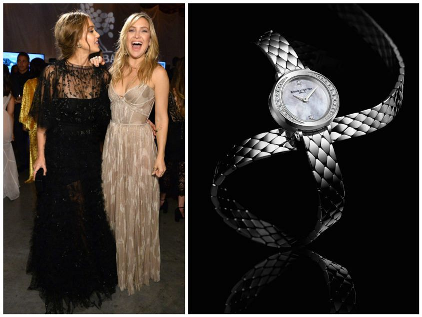 Jessica Alba and Kate Hudson having a lovely time in evening gowns. Image: eonline.com