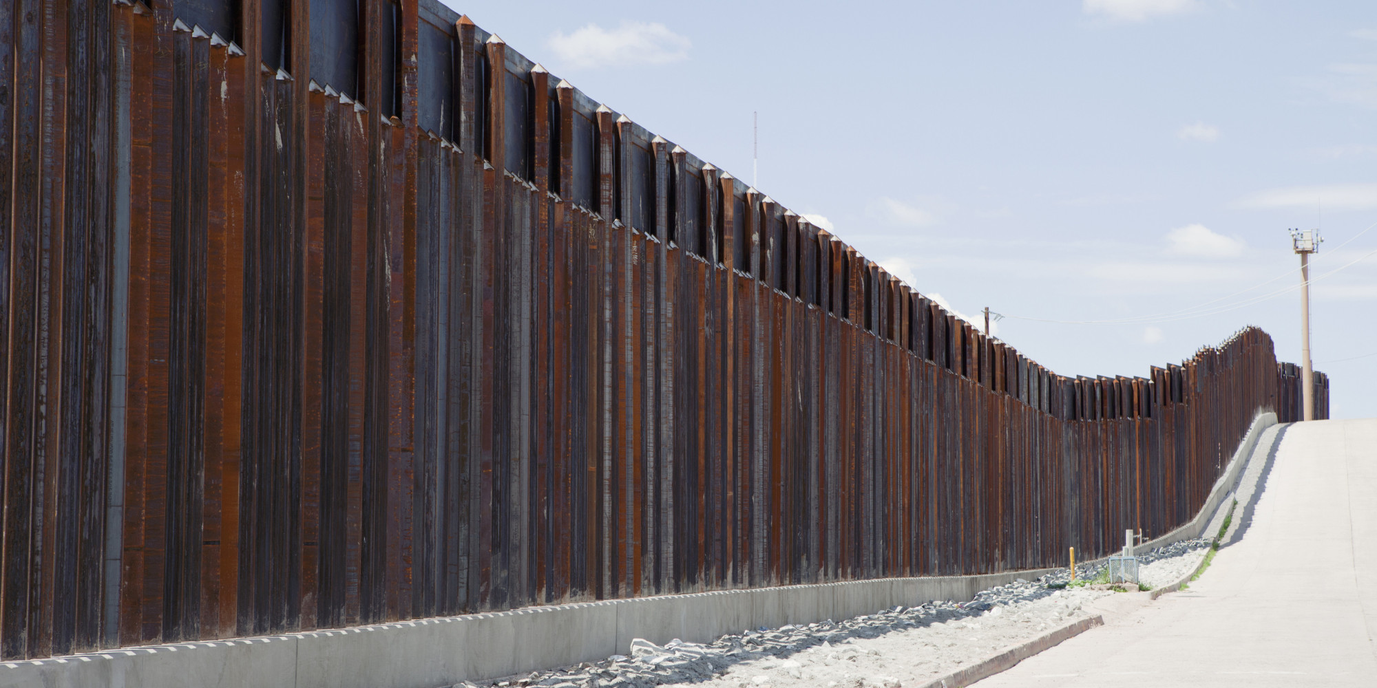 Barrier fence in Nogales, Arizona