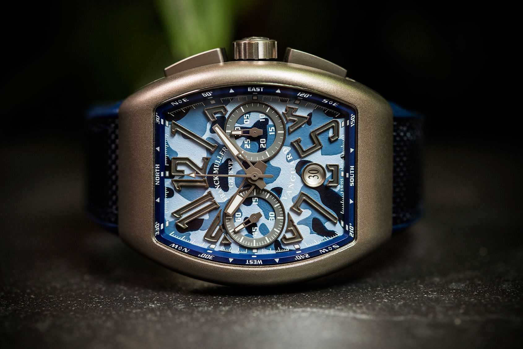 Franck Muller Vanguard Chronograph Camouflage Blue replica