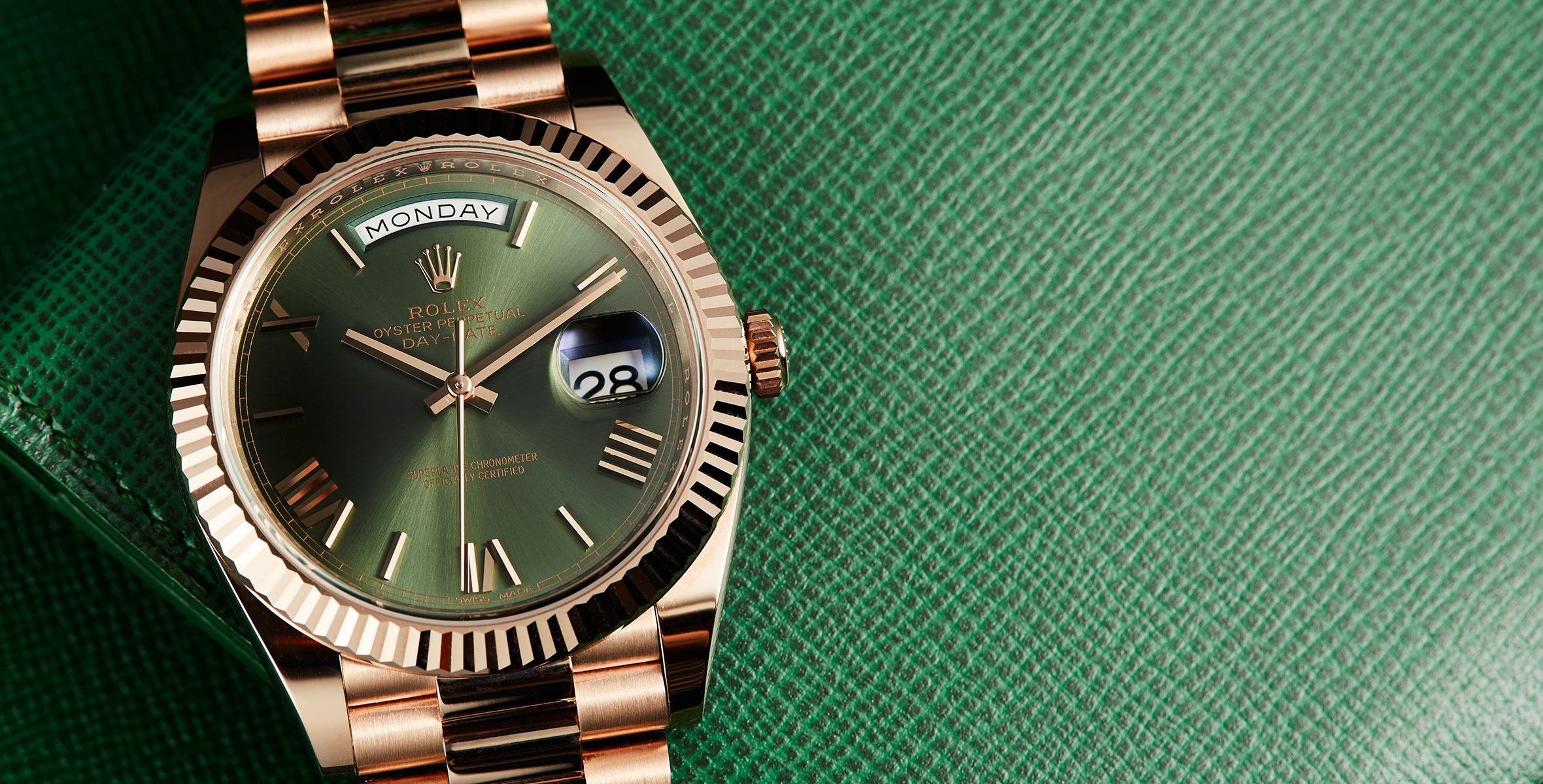 6b710a466fe Rolex Day-Date 40 with Green Dial – Hands-on Review