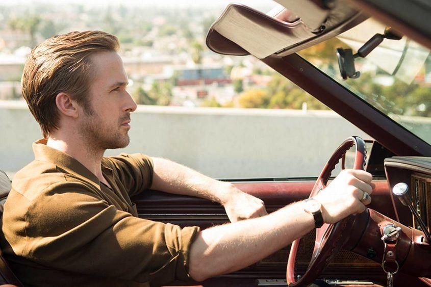 Ryan Gosling wears mystery gold Omega watch