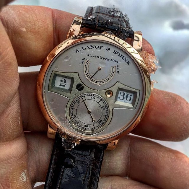 You don't really need to ice out a Zeitwerk to make it more impressive, but if you do... @watch_peace via @watchcollectinglifestyle - catch you at SIHH gents ️