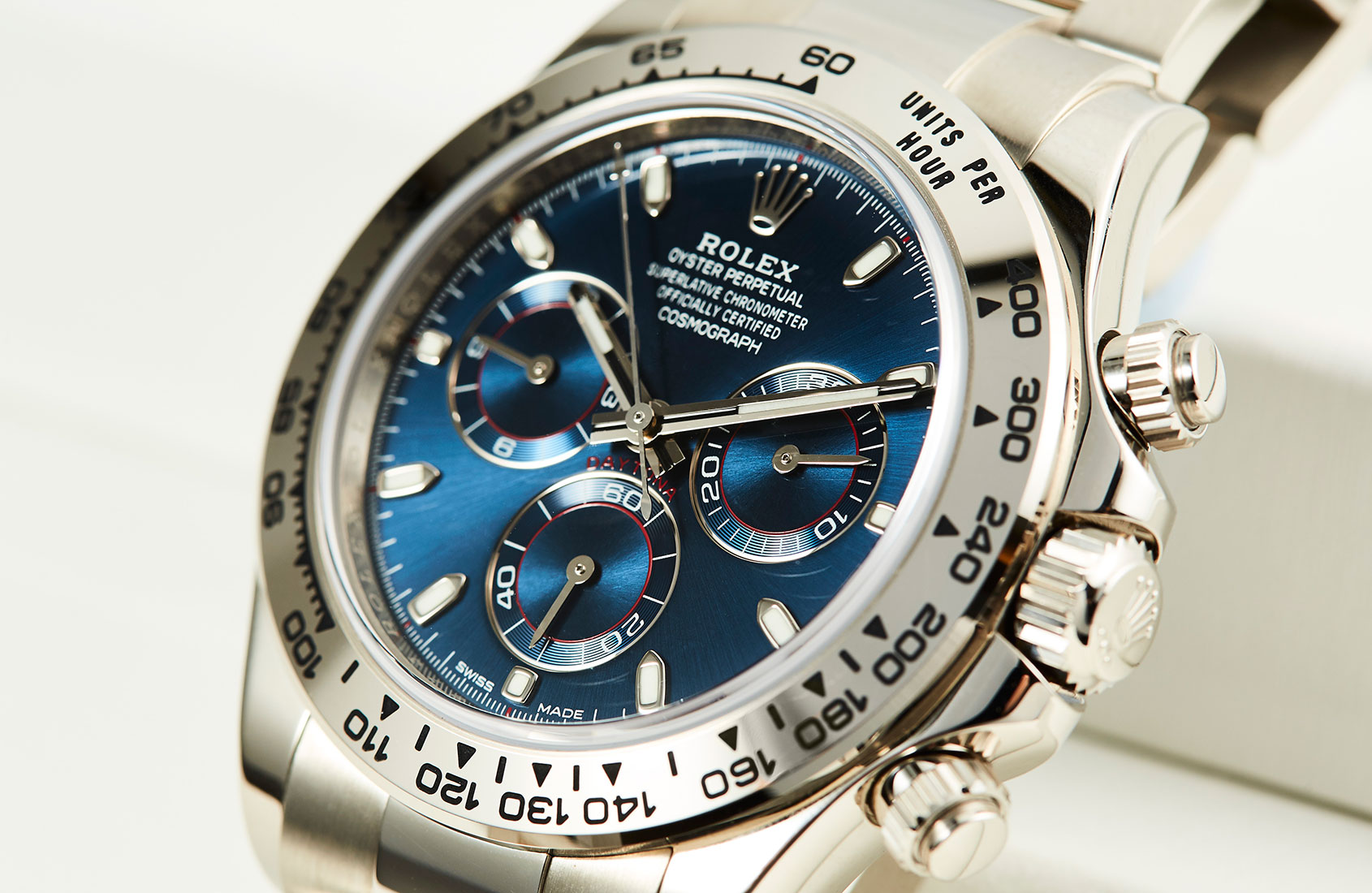 Rolex Daytona In White Gold With Blue Dial Ref 116509 Hands On Review
