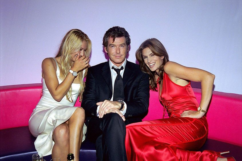 """Omega """"Choices"""" ad campaign materials, September 23, 2003. Watch brand ambassadors include Pierce Brosnan, associated with models including the 2531.80 Seamaster (worn in the last 3 Eon Productions 007 James Bond movies)."""