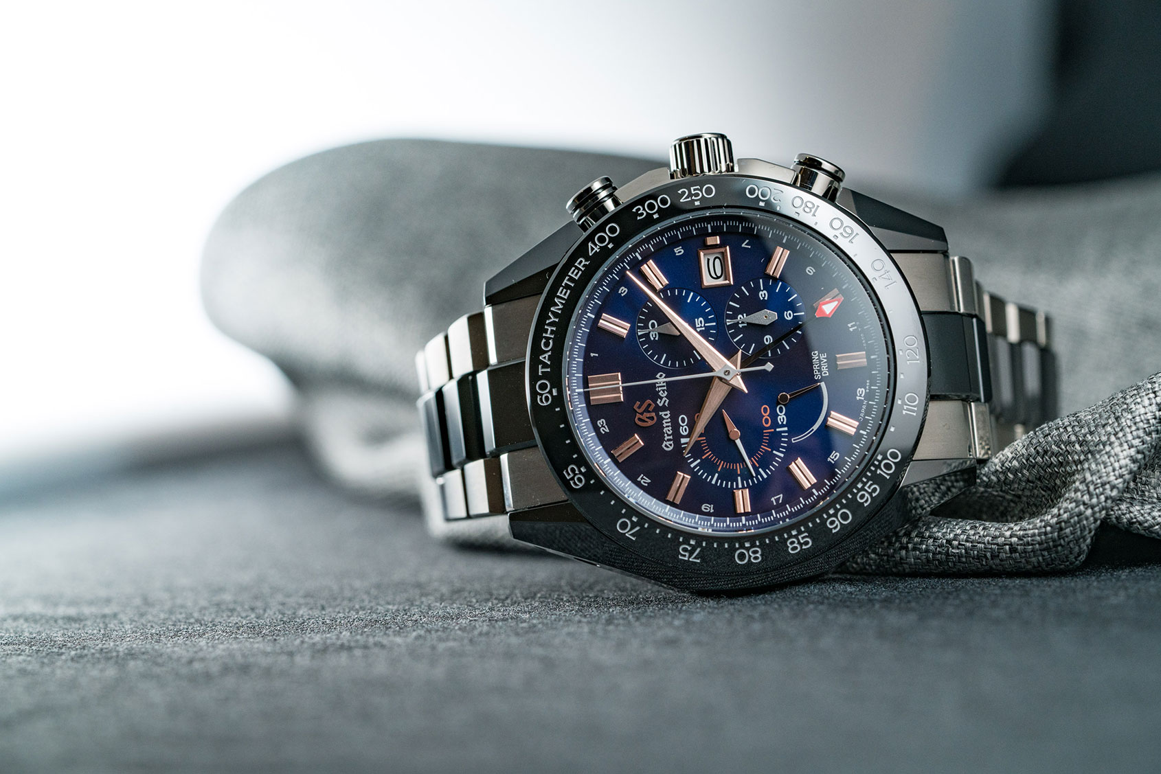 15c32c20c Last year Grand Seiko released a new-look, sporty, modular, ceramic and  titanium Spring Drive Chronograph. It was a bold change of pace for the  usually ...