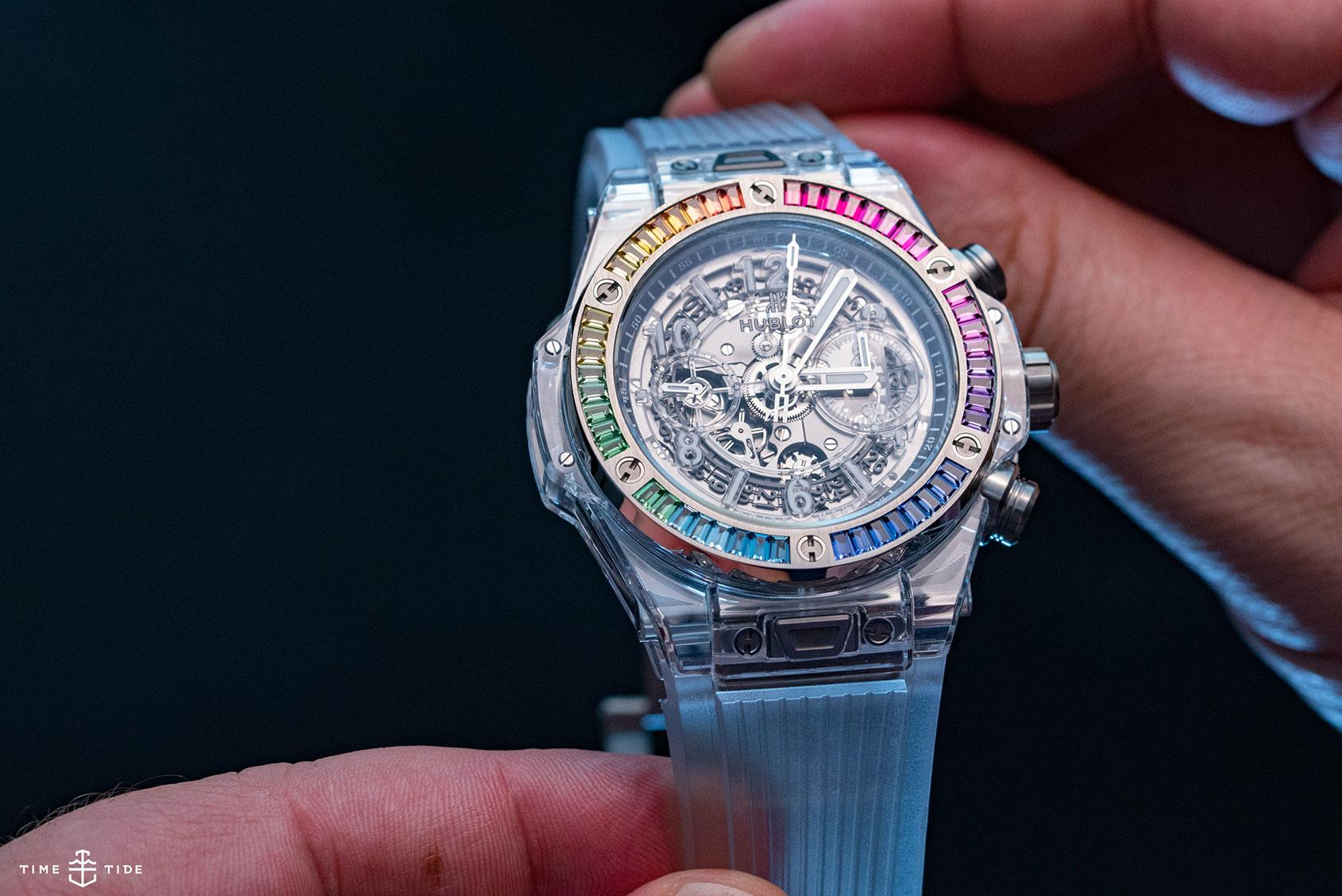 Hublot Big Bang Rainbow Sapphire Hands On Review Of