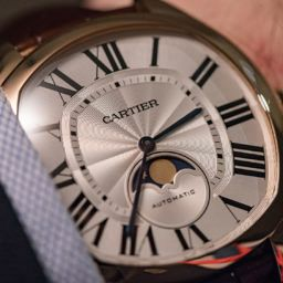HANDS-ON: Masculinity meets romance in the Drive de Cartier Moon Phases