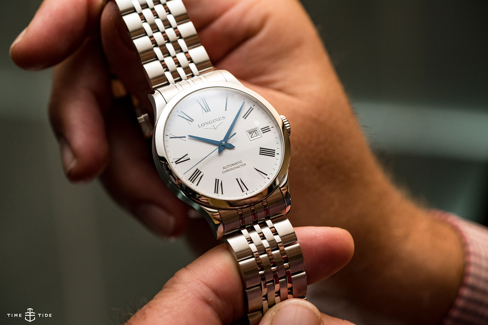 96296dcebe9 HANDS-ON  One simple word that makes the Longines Record a big deal