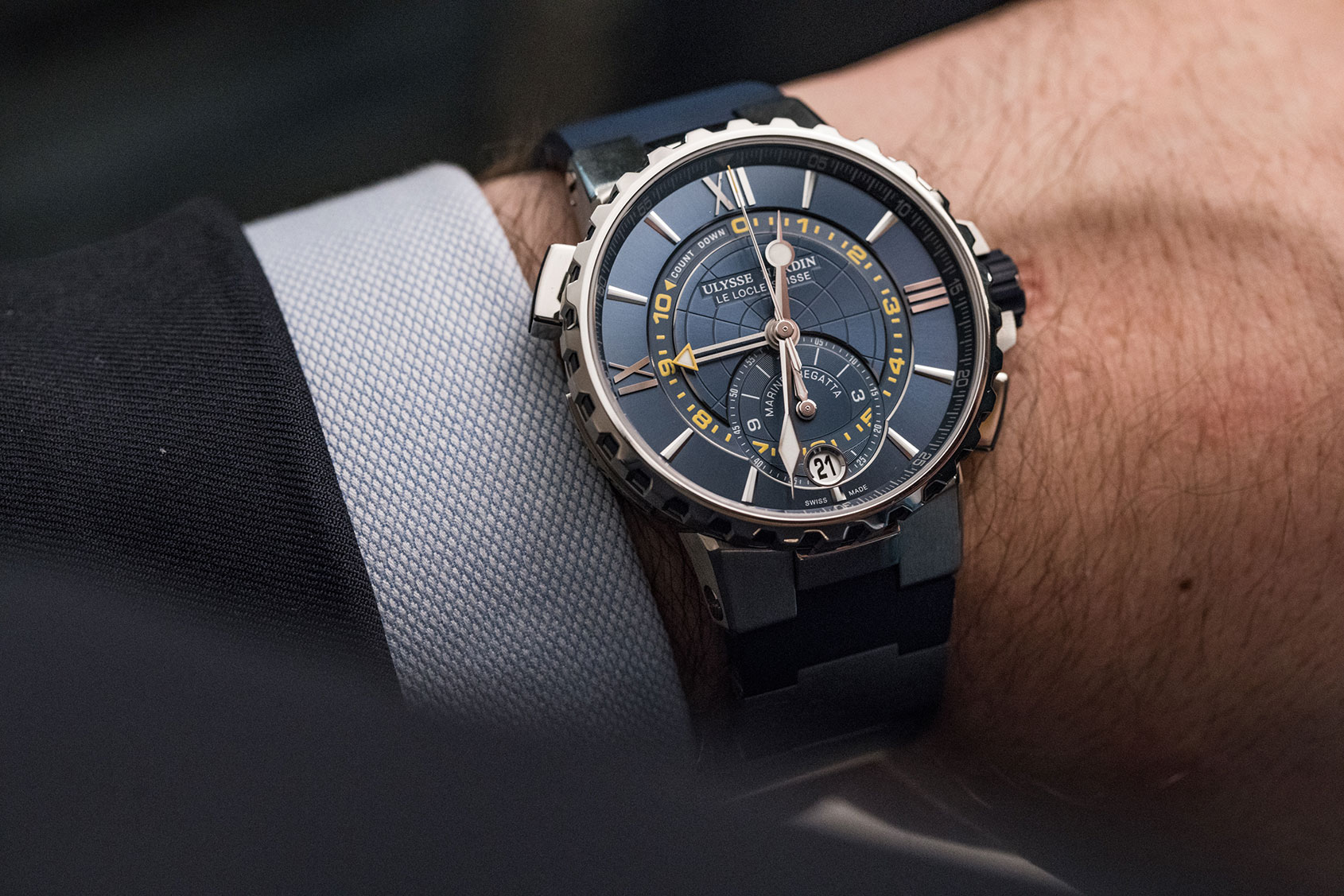 Ulysse nardin marine regatta hands on review for Marine watches