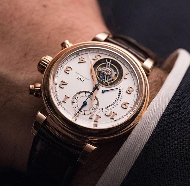 The @iwcwatches Da Vinci Tourbillon Retrograde Chronograph. Killer. ️