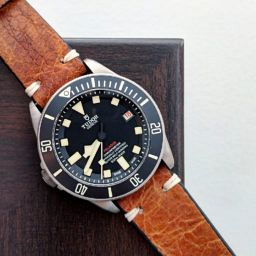 Tudor Pelagos LHD on brown leather strap review