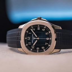 Patek Philippe Aquanaut 20th anniversary reference 5168G, white gold blue dial