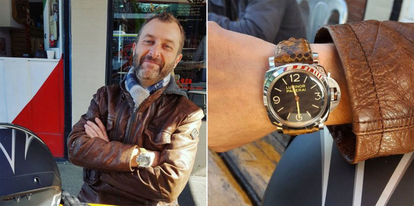 Top Gear Australia host Steve Pizzati and his Panerai PAM372