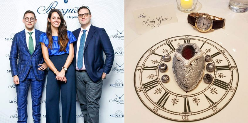 Andy Green, Natalie Perkov and Felix Scholz at Breguet's 2017 collection showing at Monard's Crown.