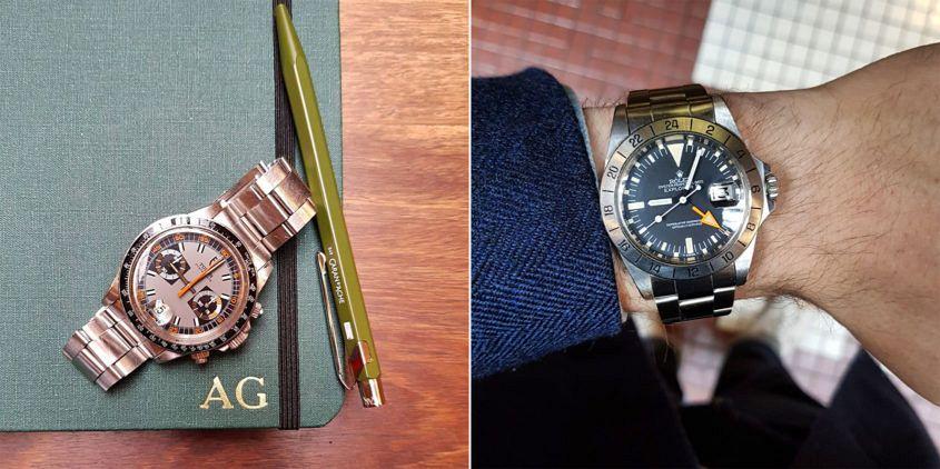 Donald's Tudor Monte Carlo (Ref 7149) and Rolex Explorer II (Ref 1655)