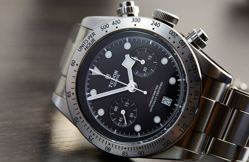 The Tudor Black Bay Chronograph on bracelet