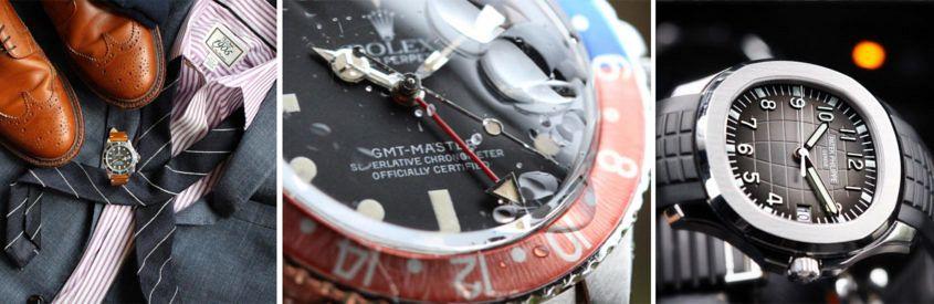 @bzabodyn214's Rolex Submariner, GMT-Master and a Patek Philippe Aquanaut.