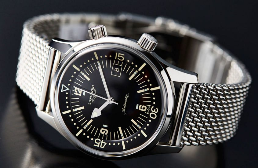 Longines Legend Diver Milanese loop