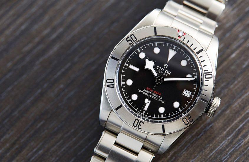 Tudor Heritage Black Bay Steel on rivet style bracelet.