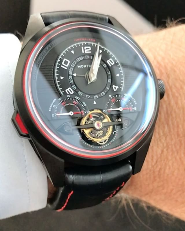 The @montblanc Timewalker exotourbillon, spinning lazily at @quayrestaurant as you do on a TWENTY-FOUR DEGREE WINTERS DAY. Sydney, you kill me. Price around $58k ️ @montblancaustralia