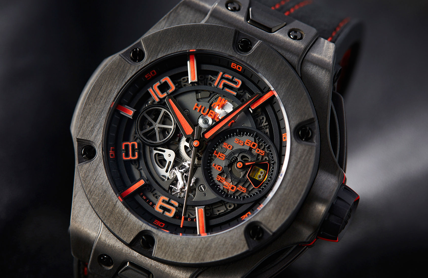 in depth ostentatiously stealthy the hublot big bang ferrari unico in carbon time and tide. Black Bedroom Furniture Sets. Home Design Ideas