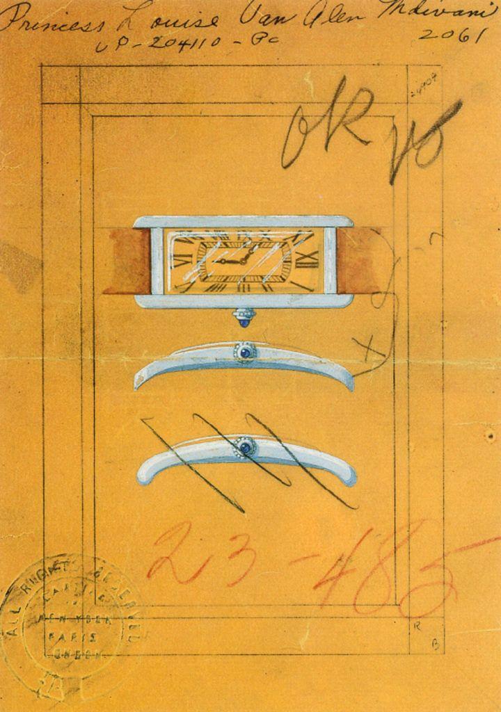 Sketches for theTank Cintrée.