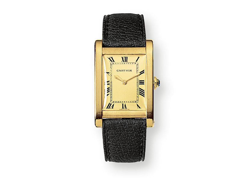 The Cartier Tank Rectangle Broad.