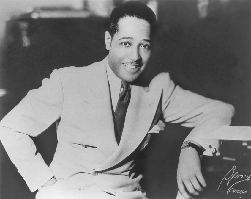 Duke Ellington wearing a Tank à Guichets watch circa 1930.