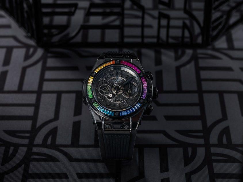 Big Bang Unico All Black Sapphire Rainbow