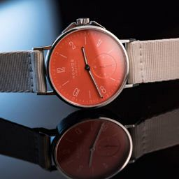 INTRODUCING: The Nomos Ahoi neomatik, in eye-popping 'siren red'