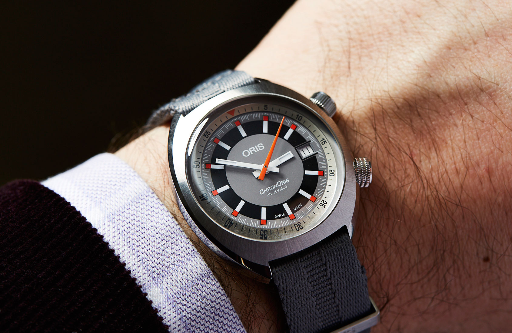 In Depth Get Funky With The Oris Chronoris Date Time