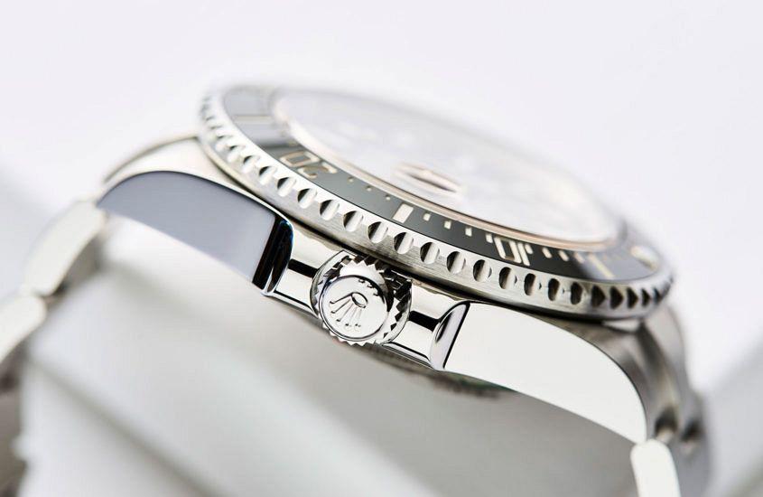 Crown detail shot on Rolex Sea-Dweller (ref. 126600)