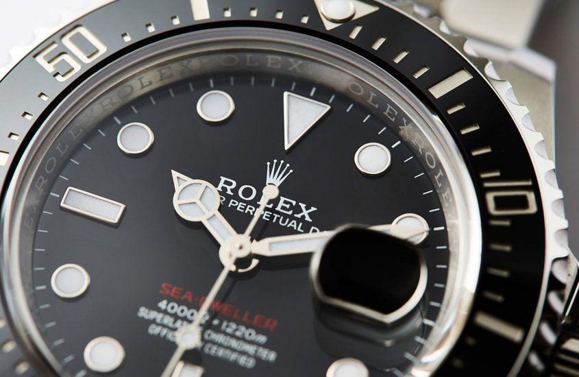 Closeup of the Rolex Sea-Dweller (ref. 126600)