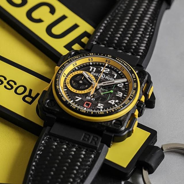 Not long now until the @onlywatch_official charity auction kicks off in Geneva. It's the place to be if you're in the market for a one-of-a-kind timepiece, like this BR-X1 RS17, from @bellrosswatches. In this case you don't JUST get the watch, you also get to meet the @renaultsportf1 in Abu-Dhabi. Not bad, not bad at all. ️