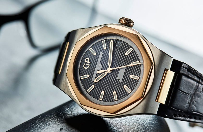 Girard-Perregaux Laureato in titanium and pink gold