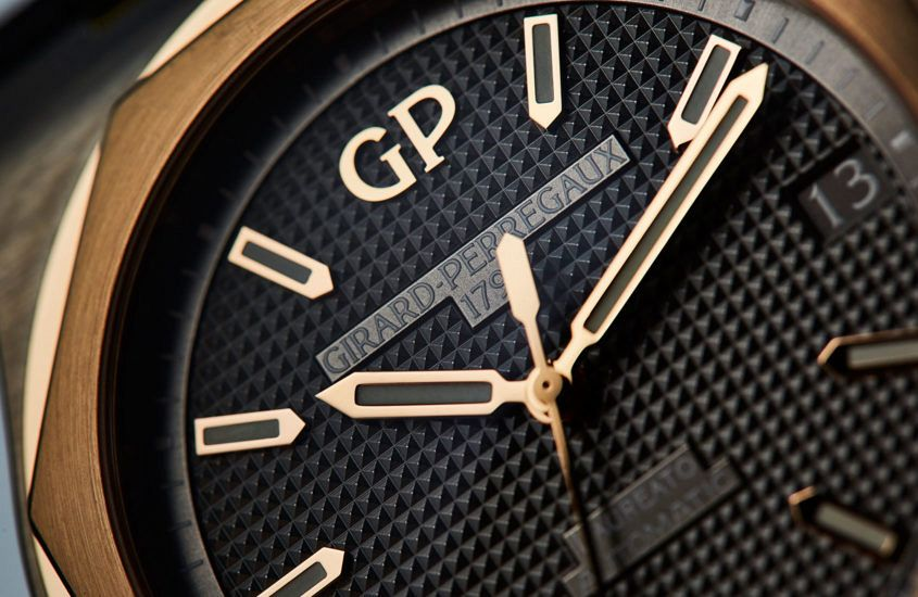 Girard-Perregaux Laureato in titanium and pink gold dial