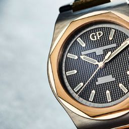 HANDS-ON: Two-tone with a twist — the Girard-Perregaux Laureato in titanium and pink gold