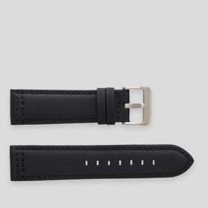 Black stitching on a black Nylon sail cloth watch strap