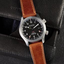 Tan vintage leather watch strap, Bremont