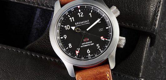 Tan vintage leather watch strap, Bremont