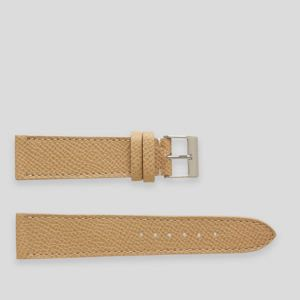 Cream elegant leather watch strap
