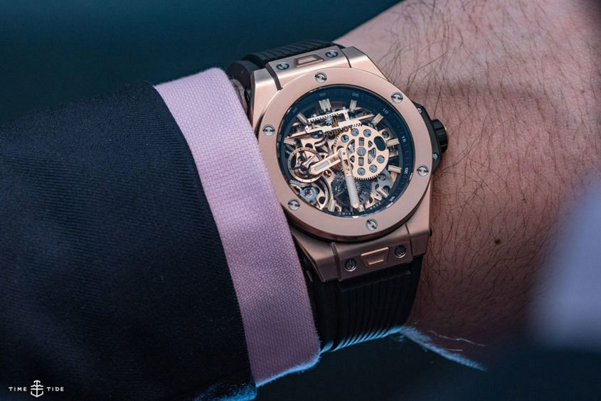 Hublot Big Bang watch, wrist