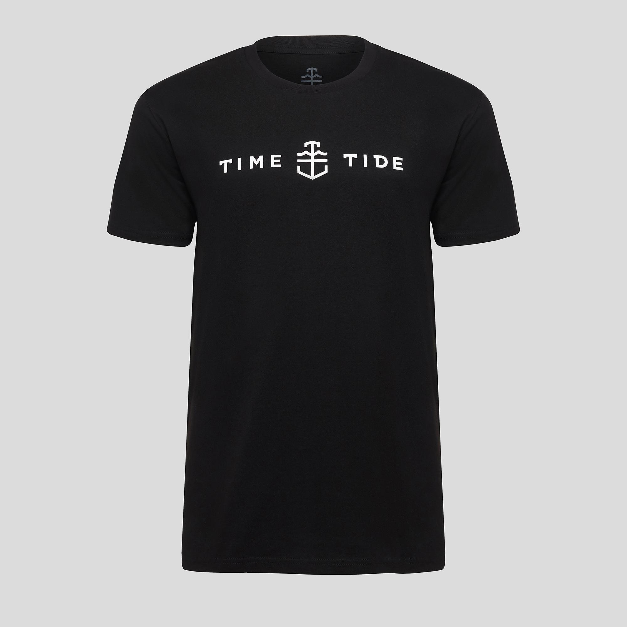 Men's black print t-shirt