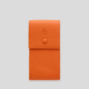 Orange Elegant Leather Watch Pouch