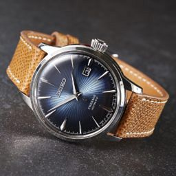 Seiko Presage Cocktail Time, light brown leather strap