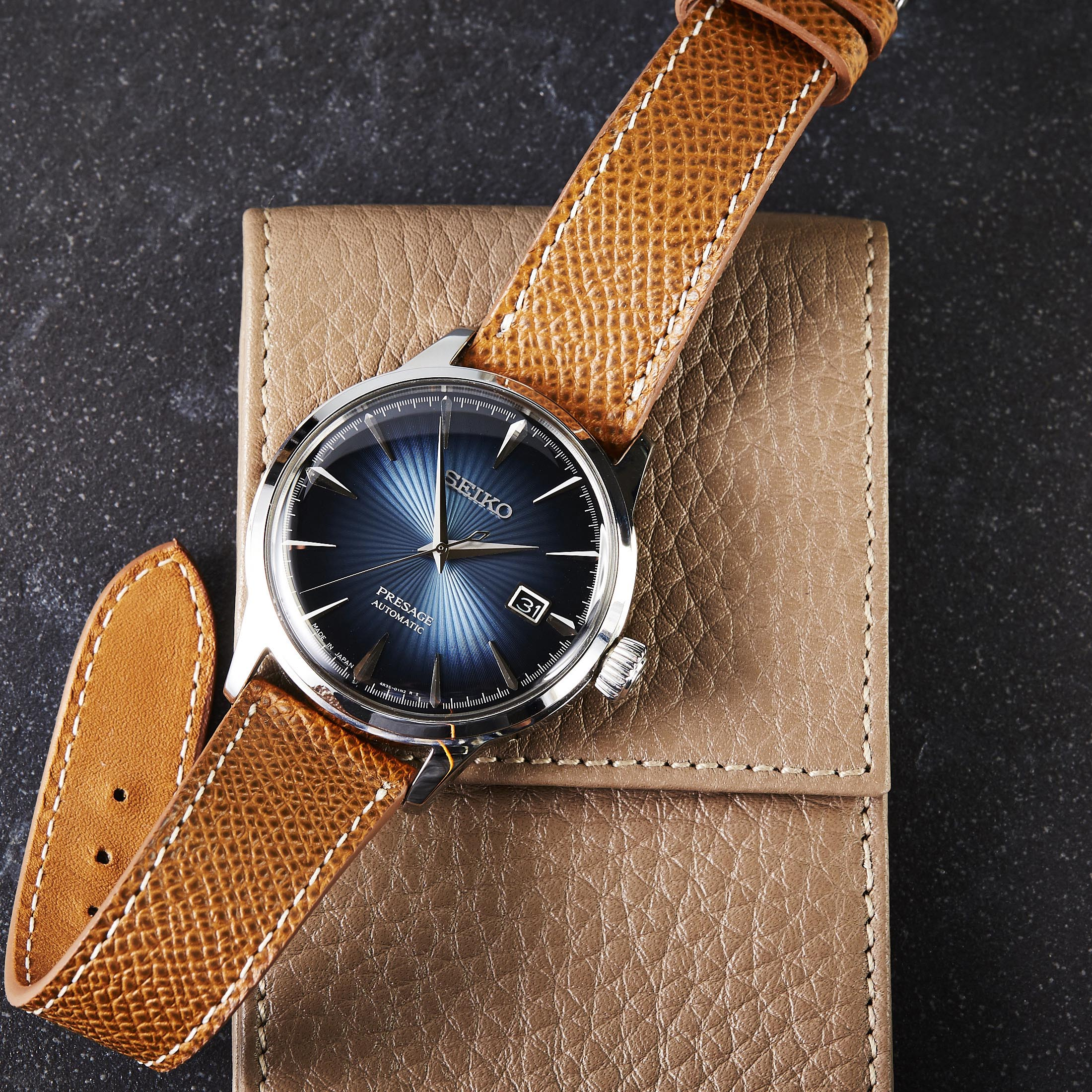 windows watches image blue genuine leather mccoy products