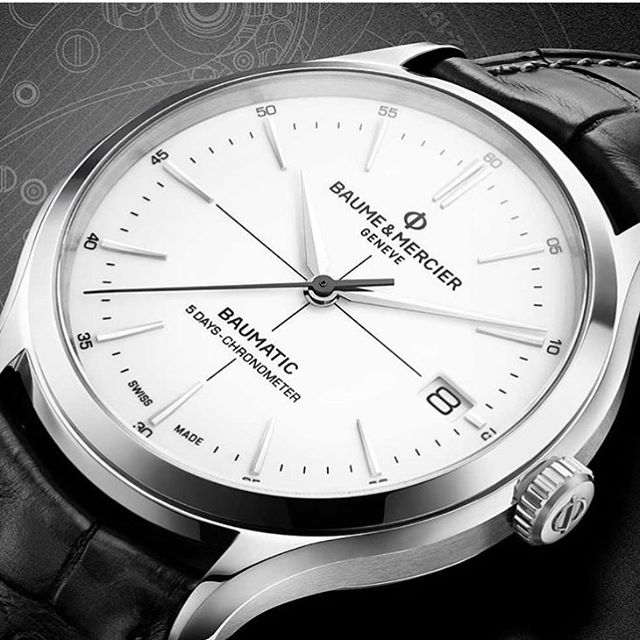 And here we go! Haven't even left for SIHH yet and the fun is beginning. @baumeetmercier lift their accuracy game with the newly in-family-house (casa Richemont) COSC-certified Baumatic. Dig the name! Dig the move. ️