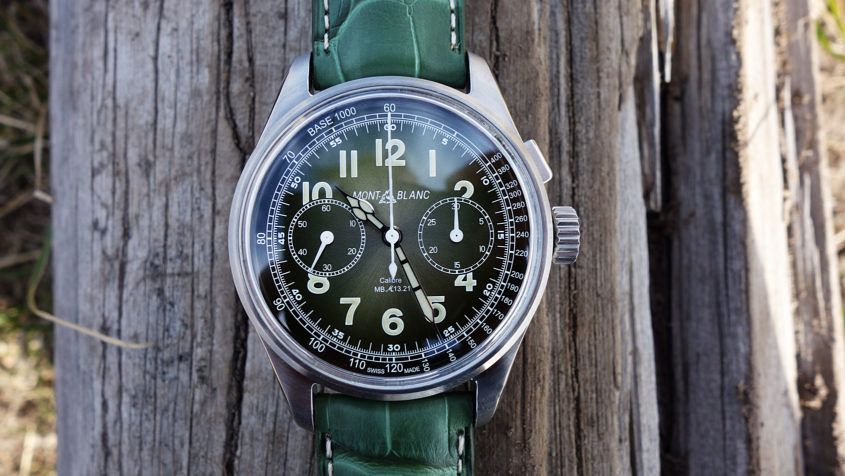 Green Montblanc 1858 Monopusher Chronograph LE