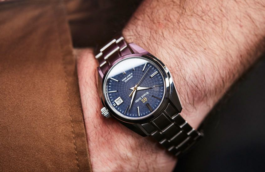 Grand Seiko SBGH267 on the wrist.