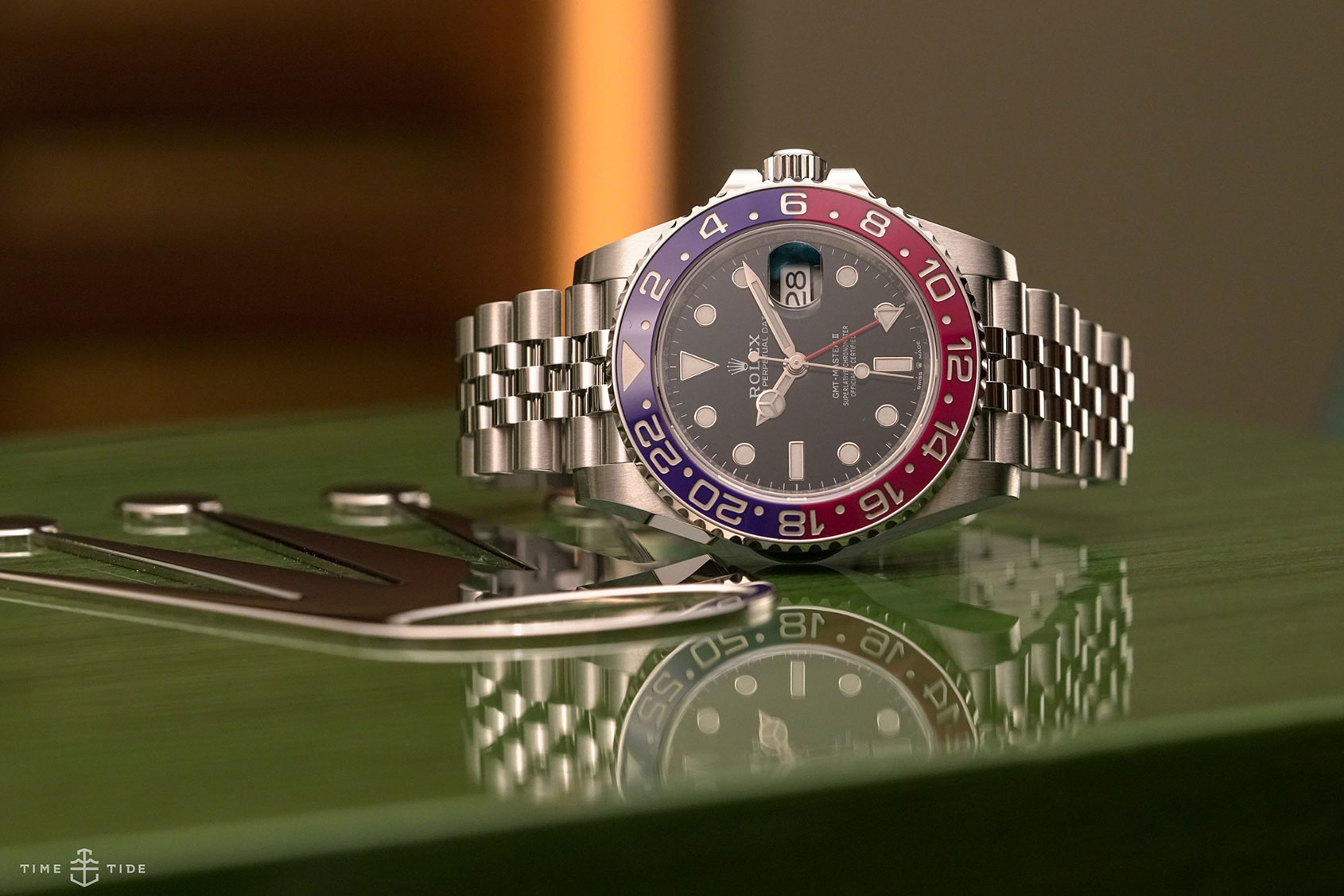 Rolex-GMT-Master-II-Pepsi-Steel-126710BLRO-5 one of the best GMT watches of 2018.